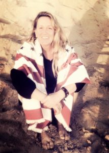 Judi Riley in the place that makes her the happiest despite CRPS RSD- the beach