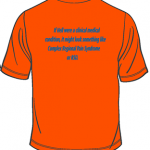 CRPS/RSD Orange T-shirt