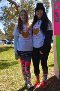 Crazy Sock Walk Founder Melanie with sister Alyssa