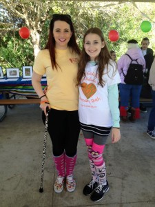 RSDSA Special Events Coordinator, Sammie, with Crazy Sock Day/Crazy Sock Walk Founder Melanie