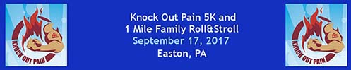 Know Out Pain 5K and 2 Mile Family Roll and Stroll