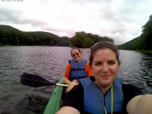 Jess, who has been living with CRPS for 8 years, was able to fulfill her goal of kayaking in the Delaware during the young adult retreat