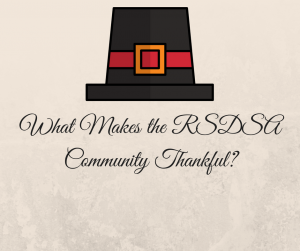 The RSDSA community came together to write about why they are thankful despite CRPS RSD this Thanksgiving