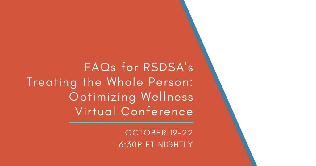 FAQs for RSDSA's Virtual Conference